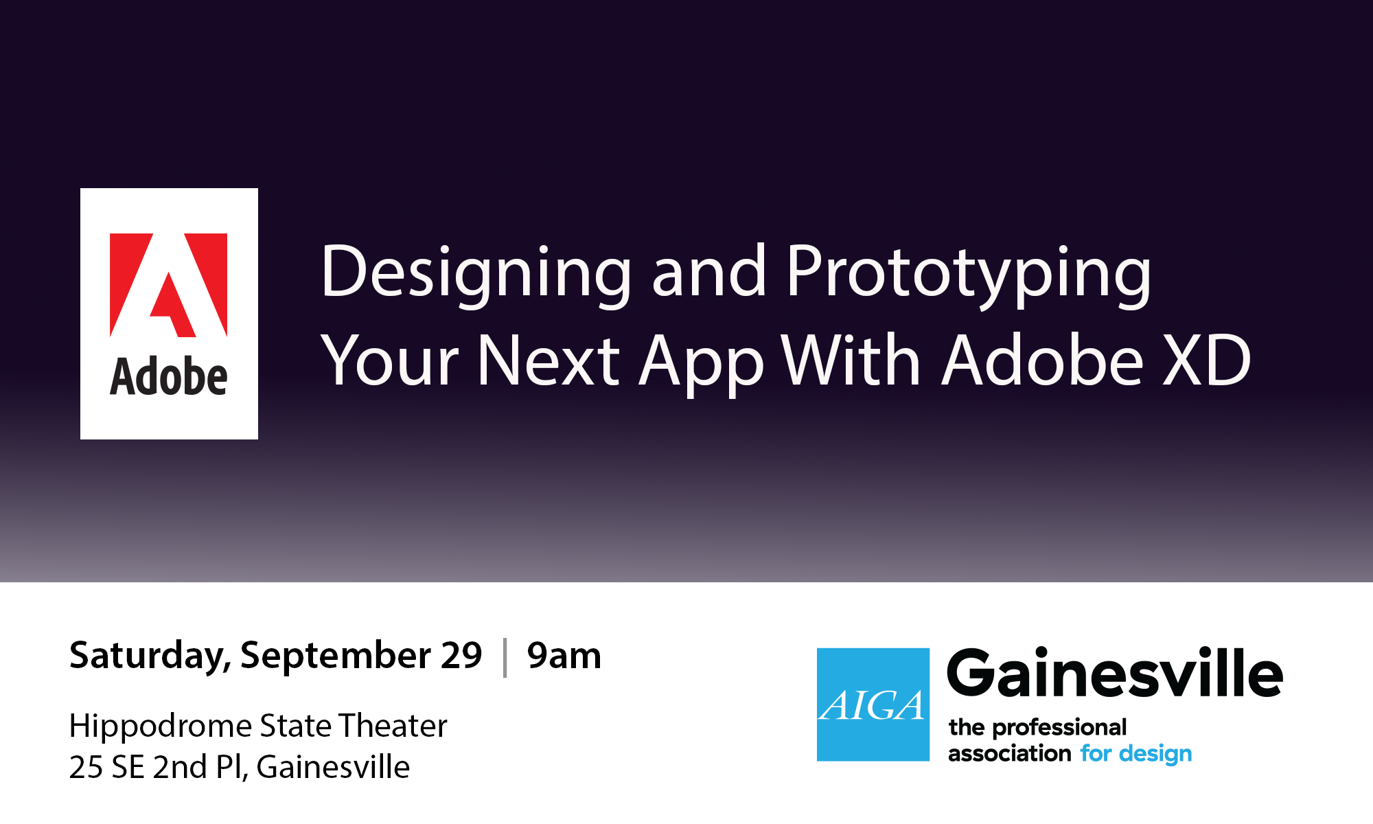 Adobe XD Workshop - AIGA GainesvilleAIGA Gainesville